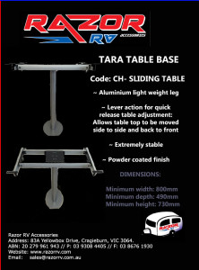 Razor RV Accessories - CH- SLIDING TABLE