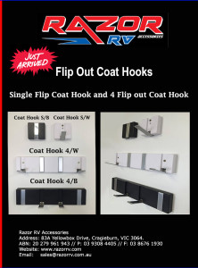 Razor RV Accessores - Coat Hook S-B