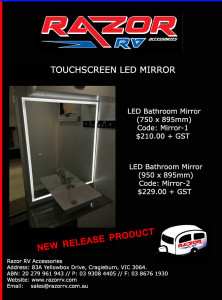 Touchscreen-LED-mirror